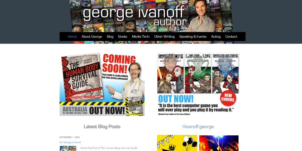 Website Design Portfolio | George Ivanoff | Wordpress |