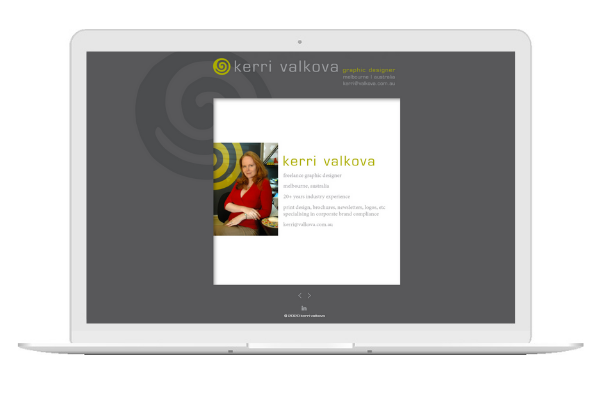 Websites can be a simple or complex as you want them to be. Kerri knew exactly what she was after - a classic, streamlined site showcasing her extensive graphic design portfolio through a slideshow. The end result is a very user friendly Wordpress site, for both herself and potential clients.