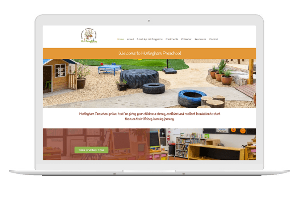 Hurlingham Preschool had an existing site that was a little dated. Their beautiful preschool was being renovated and they wanted a website to showcase their new indoor and outdoor spaces. The new look and feel is clean, warm and welcoming, just like their kindergarten.