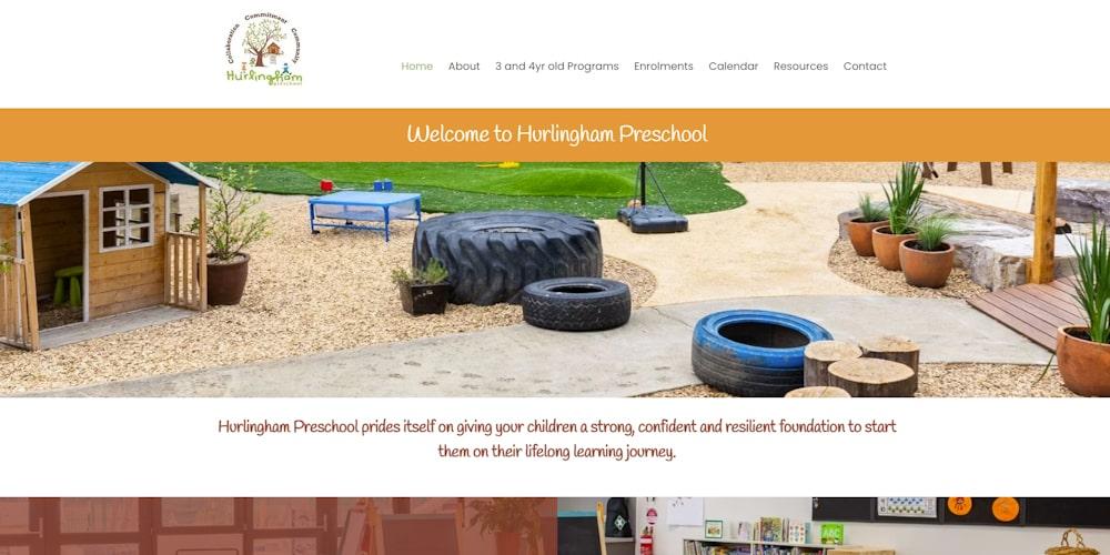 Website Design Portfolio   Hurlingham Preschool